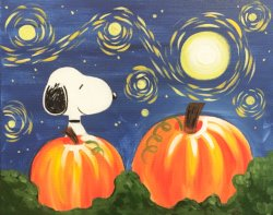 Pumpkin Patch Pooch- Muse Paintbar