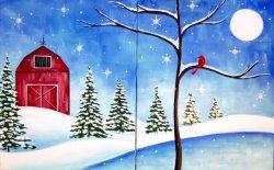 Snowy Homestead- Muse Paintbar
