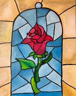 Stained Glass Rose - Muse Paintbar