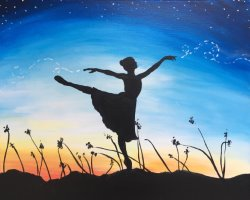 Starlit Dancer- Muse Paintbar