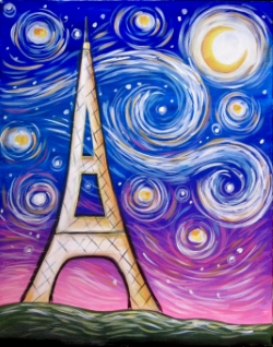 Starry Eiffel Tower- Muse Paintbar