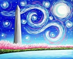 Starry Monument- Muse Paintbar
