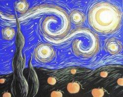 Starry Pumpkin Patch- Muse Paintbar