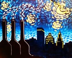 Starry Smokestacks- Muse Paintbar