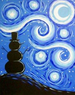 Starry Snowman- Muse Paintbar