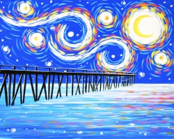 Starry Pier- Muse Paintbar