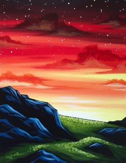 Stony Hillside- Muse Paintbar