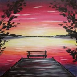 Sunset Dock- Muse Paintbar