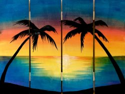 Sunset Palms- Muse Paintbar
