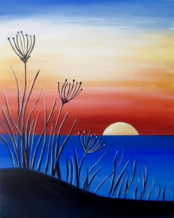 Sunset on the Bay- Muse Paintbar