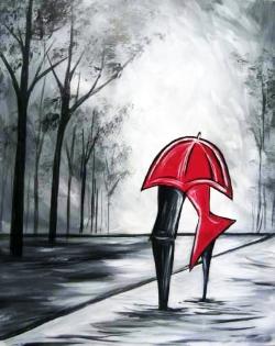 Umbrella Embrace- Muse Paintbar