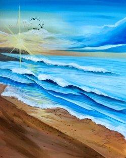 Walk on the Beach- Muse Paintbar