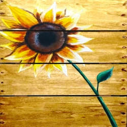 Sunflower Wooden Sign- Muse Paintbar