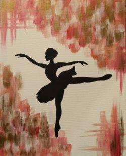 Ballerina Silhouette- Muse Paintbar