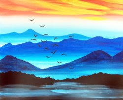 Cobalt Peaks- Muse Paintbar