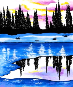 Icy Evergreens- Muse Paintbar