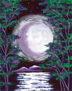 Moonlit Lagoon- Muse Paintbar