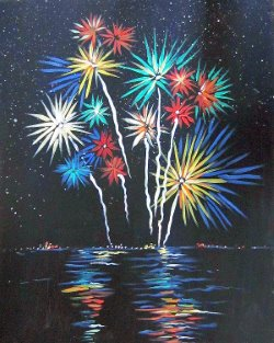 Fireworks!- Muse Paintbar