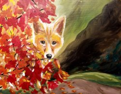Hidden Fox- Muse Paintbar