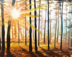 Crisp Autumn Sunrise- Muse Paintbar