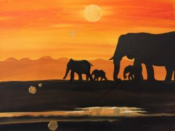 Sunset Safari- Muse Paintbar