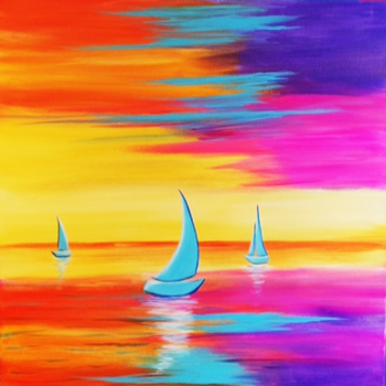 Canvas Painting Class on 08/29 at Muse Paintbar Assembly Row