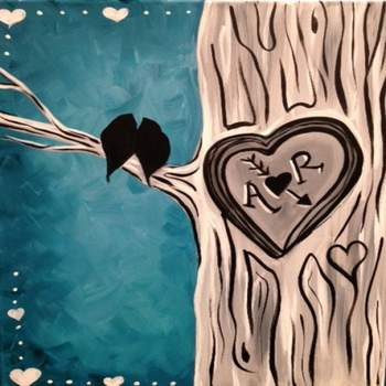Canvas Painting Class on 02/14 at Muse Paintbar Patriot Place