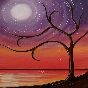 Canvas Painting Class on 10/11 at Muse Paintbar National Harbor