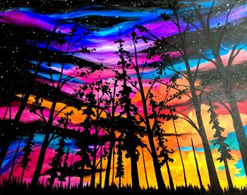 Canvas Painting Class on 09/30 at Muse Paintbar Patriot Place