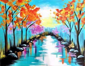 Canvas Painting Class on 10/03 at Muse Paintbar Fairfax (Mosaic)