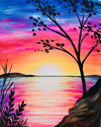 Canvas Painting Class on 09/15 at Muse Paintbar Assembly Row