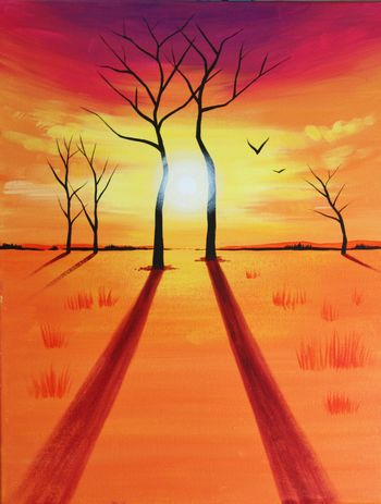 Canvas Painting Class on 10/01 at Muse Paintbar Gaithersburg