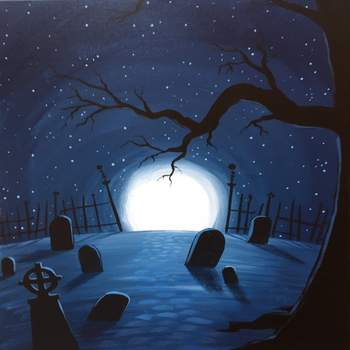 Canvas Painting Class on 10/30 at Muse Paintbar Port Jefferson