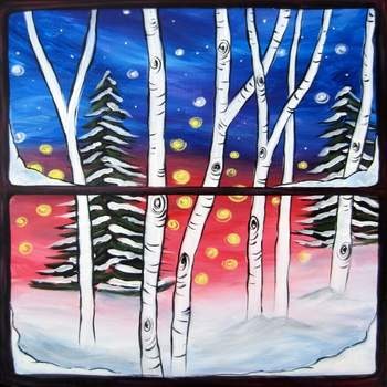 Canvas Painting Class on 12/05 at Muse Paintbar Owings Mills