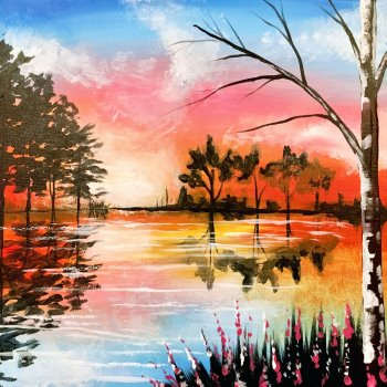 Canvas Painting Class on 03/07 at Muse Paintbar Hingham Shipyard