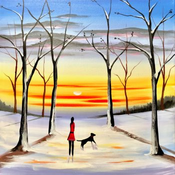 Canvas Painting Class on 02/17 at Muse Paintbar Woodbridge