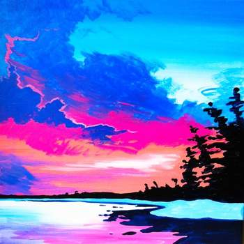 Canvas Painting Class on 01/31 at Muse Paintbar Norwalk