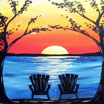 Canvas Painting Class on 08/04 at Muse Paintbar Portland