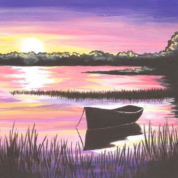 Canvas Painting Class on 09/22 at Muse Paintbar Glastonbury
