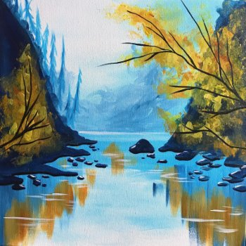 Canvas Painting Class on 10/24 at Muse Paintbar Patriot Place