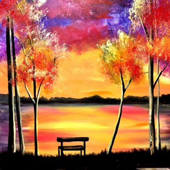 Canvas Painting Class on 11/02 at Muse Paintbar Norwalk