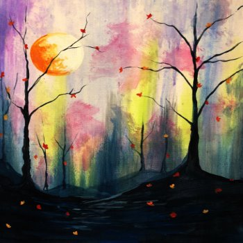 Canvas Painting Class on 09/13 at Muse Paintbar South Norwalk