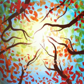 Canvas Painting Class on 10/18 at Muse Paintbar Fairfax (Mosaic)