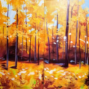 Couple's Paint Night on 10/19 at Muse Paintbar Glastonbury