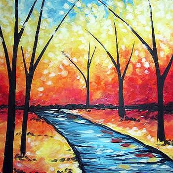 Canvas Painting Class on 09/03 at Muse Paintbar Lynnfield