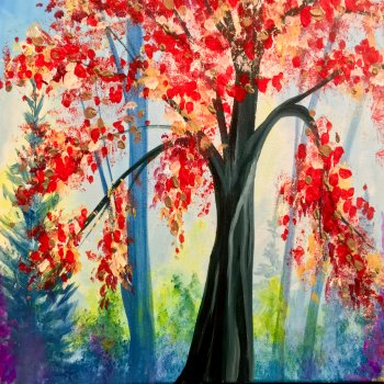 Canvas Painting Class on 09/17 at Muse Paintbar Fairfax (Mosaic)
