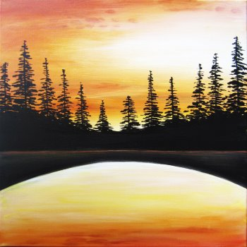 Canvas Painting Class on 09/22 at Muse Paintbar Lynnfield