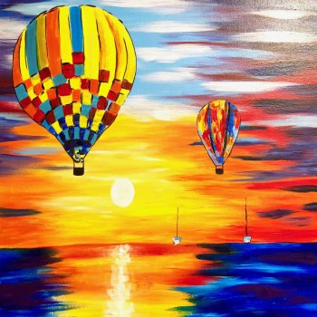 Canvas Painting Class on 06/16 at Muse Paintbar Patriot Place