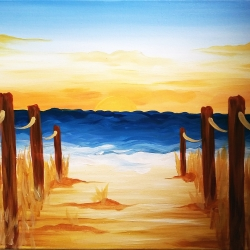 Canvas Painting Class on 07/02 at Muse Paintbar Patriot Place
