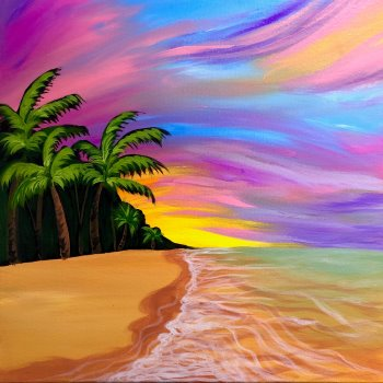 Canvas Painting Class on 07/25 at Muse Paintbar Fairfax (Mosaic)